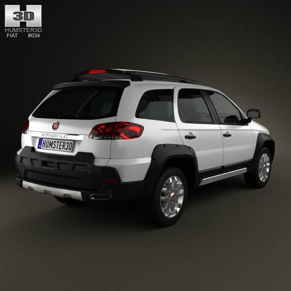 Fiat Palio Adventure 2012 3d model