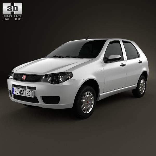Fiat Palio Fire Economy 2012 3d car model