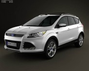 3D model of Ford Escape with HQ interior 2013