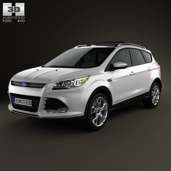 Ford Escape with HQ interior 2013 3d car model