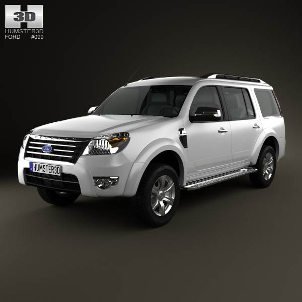 Ford Everest 2012 3d car model