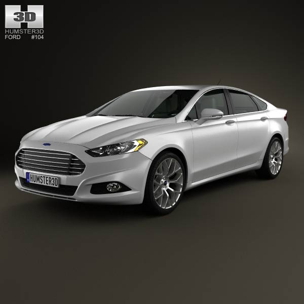 Ford Fusion (Mondeo) with HQ interior 2013 3d car model