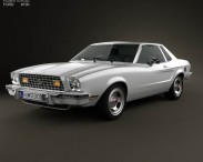 3D model of Ford Mustang coupe 1974