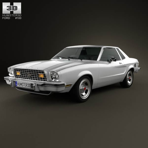 Ford Mustang coupe 1974 3d car model