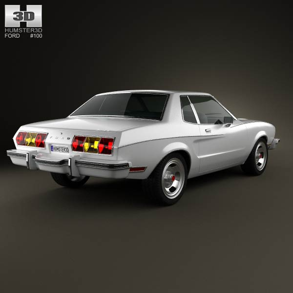 Ford Mustang coupe 1974 3d model