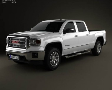 3D model of GMC Sierra Double Cab 2013
