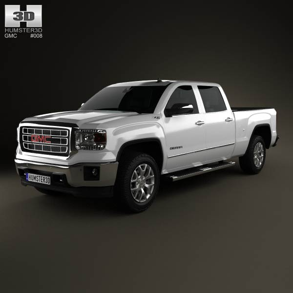 GMC Sierra Double Cab 2013 3d car model