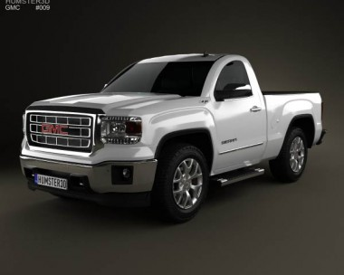 3D model of GMC Sierra Single Cab 2013