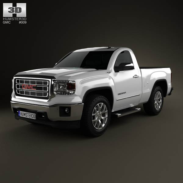 GMC Sierra Single Cab 2013 3d car model
