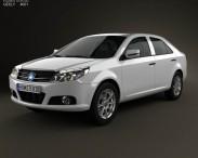 3D model of Geely MK sedan 2009