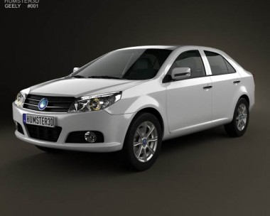 3D model of Geely MK sedan 2009