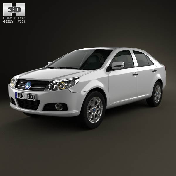 Geely MK sedan 2009 3d car model