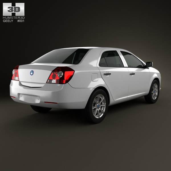 Geely MK sedan 2009 3d model