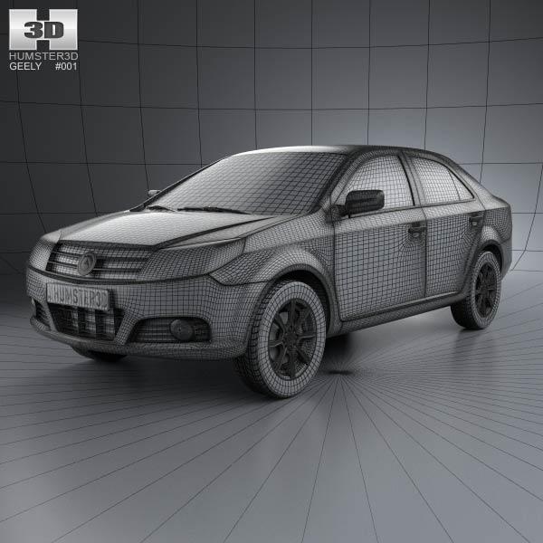 Geely MK hatchback 2009 3D model - Humster3D