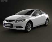 3D model of Honda Civic coupe 2013