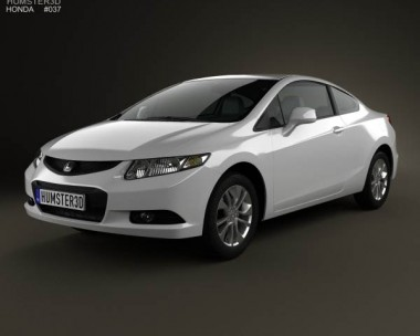 3D model of Honda Civic coupe 2013