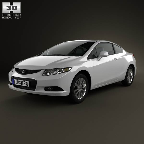 Honda Civic coupe 2013 3d car model