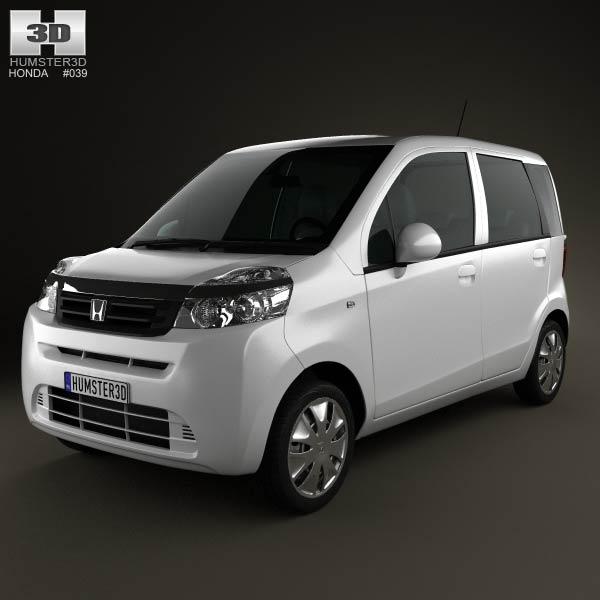 Honda Life 2013 3d car model