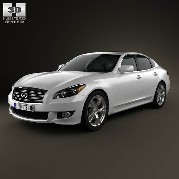 3D model of Infiniti Q70 (M) with HQ interior 2011