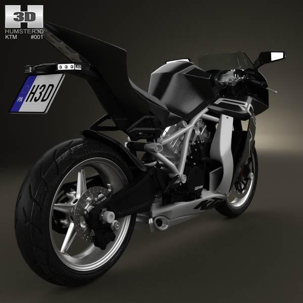 KTM 1190 RC8 R 2012 3d model