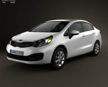 3D model of Kia Rio (US) sedan 2012