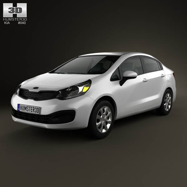 Kia Rio (US) sedan 2012 3d car model