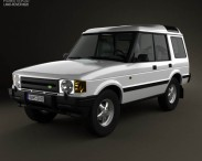 3D model of Land Rover Discovery 5-door 1989