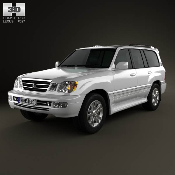 Lexus LX 2003 3d car model