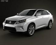 3D model of Lexus RX F Sport hybrid (AL10) with HQ interior 2012