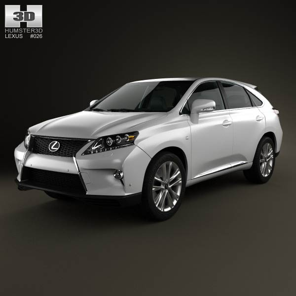 Lexus RX F Sport hybrid (AL10) with HQ interior 2012 3d model