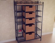 3D model of Manilla Kitchen Storage Rack