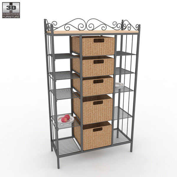 Kitchen Shelves And Racks Online: Manilla Kitchen Storage Rack 3D Model