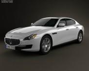 3D model of Maserati Quattroporte 2013