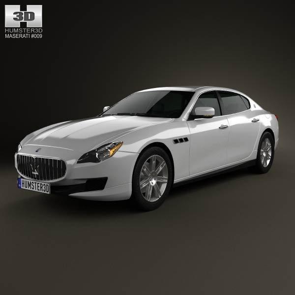 Maserati Quattroporte 2013 3d car model