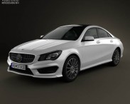 3D model of Mercedes-Benz CLA AMG Sports Package 2013