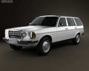 3D model of Mercedes-Benz E-Class W123 estate 1975
