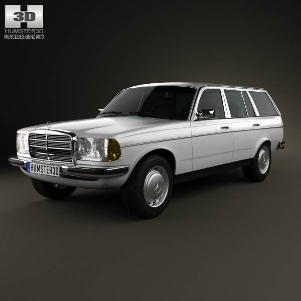 3D model of Mercedes-Benz E-Class W123 estate 1975