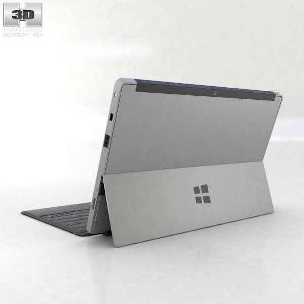 Microsoft Surface Pro with Type Cover 3d model