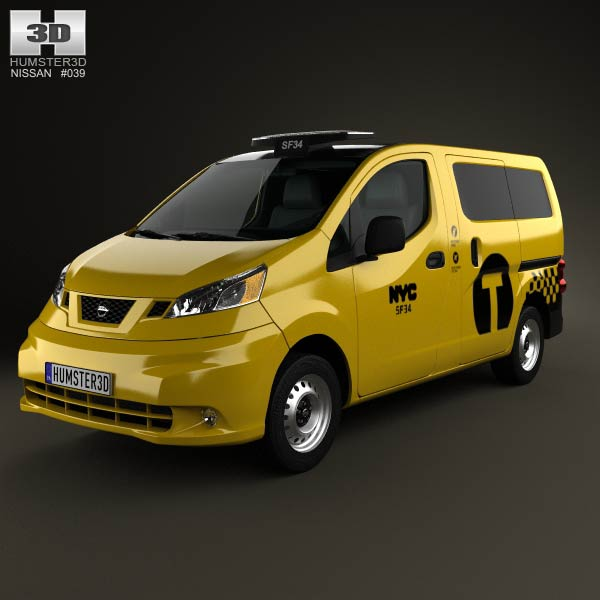 Nissan NV200 New York Taxi 2014 3d car model