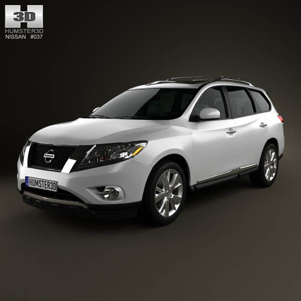 Nissan Pathfinder with HQ interior 2013 3d car model
