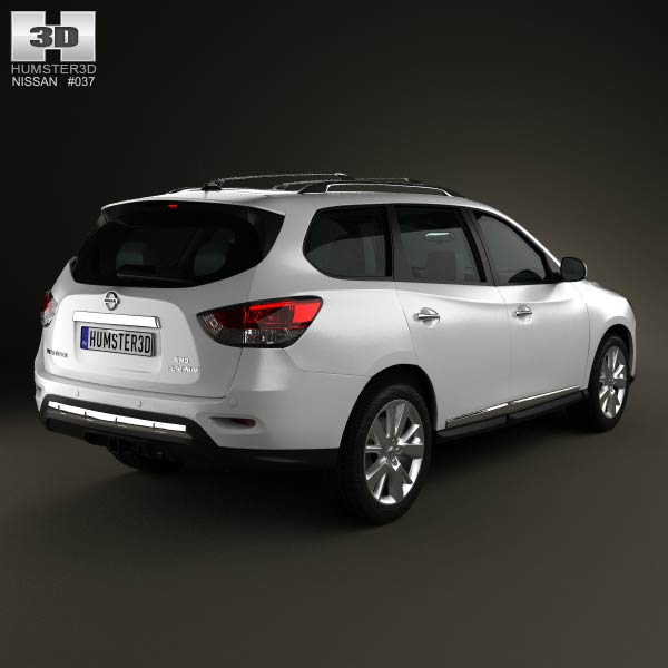 Nissan Pathfinder with HQ interior 2013 3d model