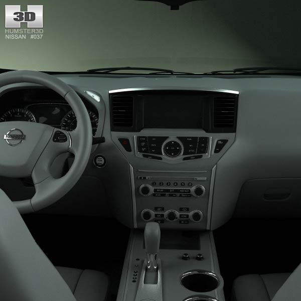 Nissan Pathfinder With Hq Interior 2013 3d Model Humster3d