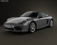 3D model of Porsche Cayman 2013