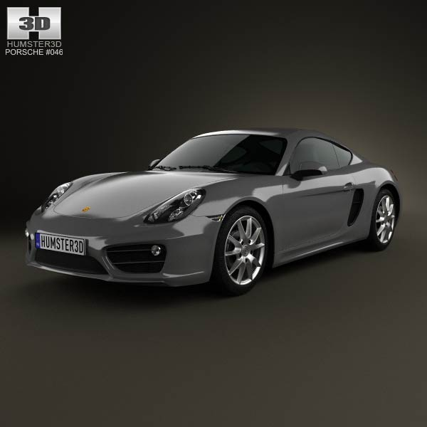 Porsche Cayman 2013 3d car model