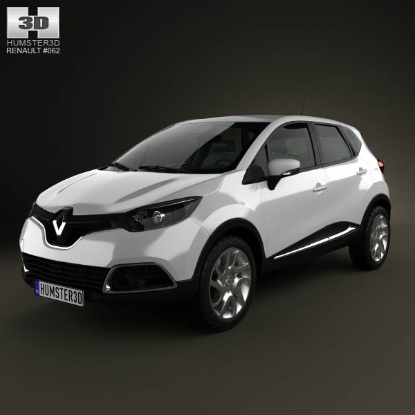 Renault Captur 2014 3d car model