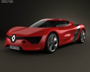3D model of Renault DeZir with HQ interior 2012