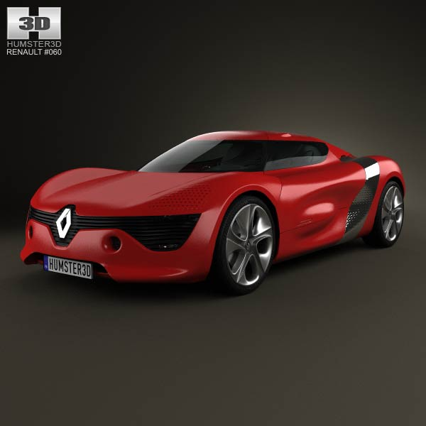 Renault DeZir with HQ interior 2012 3d car model