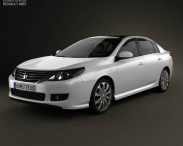 3D model of Renault Latitude with HQ interior 2013