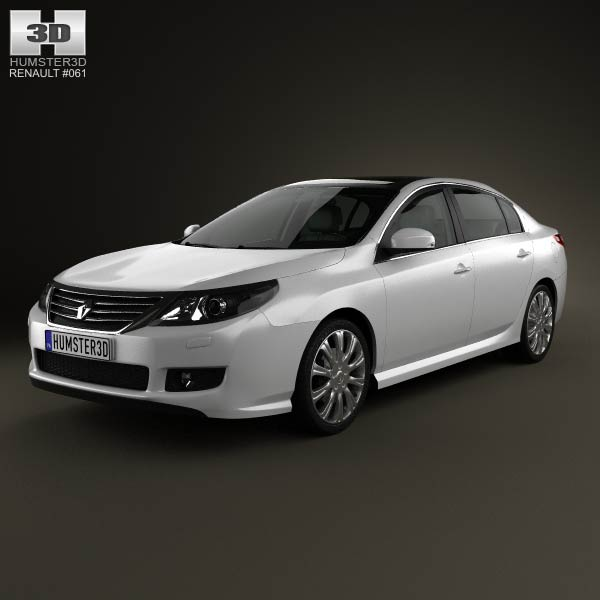 Renault Latitude with HQ interior 2013 3d car model