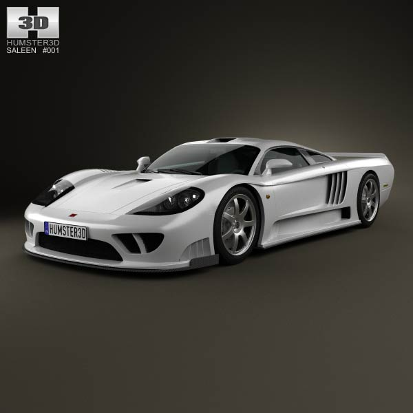 Saleen S7 Twin Turbo 2009 3d model